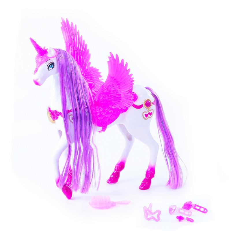 Kůň s křídly se zvukem a světlem