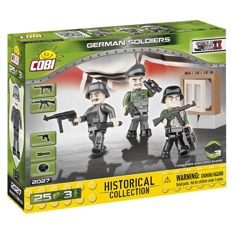 Figurky s doplňky Německá armáda 25 ks