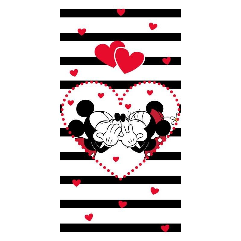 Osuška Mickey Minnie stripes