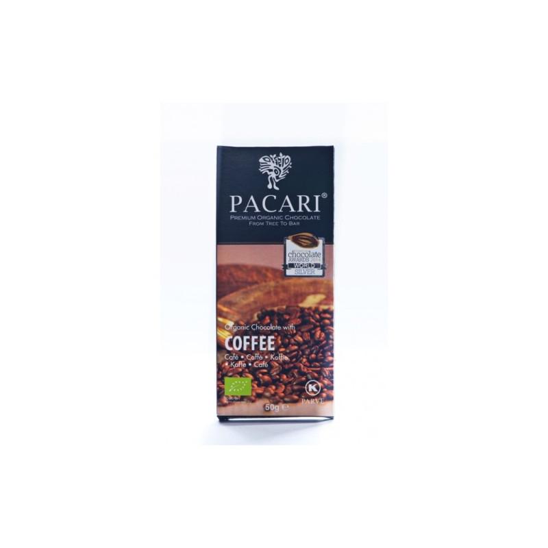 BIO Pacari hořká čokoláda s kávou 50 g
