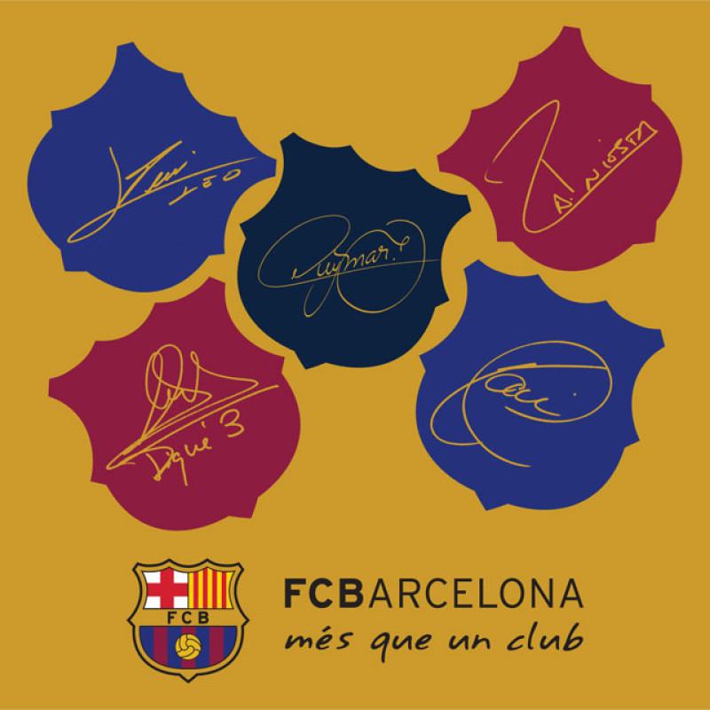 Polštářek FC Barcelona champions