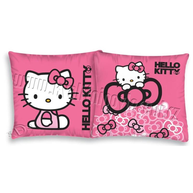 Povlečení na polštářek Hello Kitty mašličky