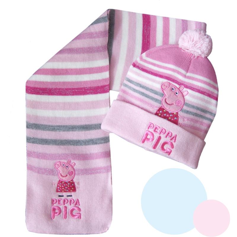 Šála a čepice Peppa Pig