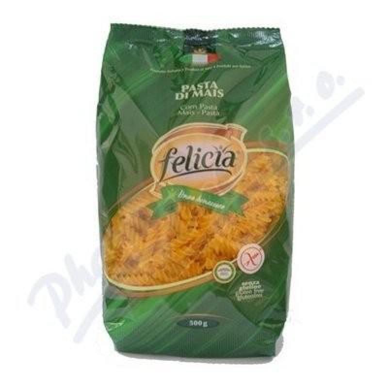 Kukuřičné Fusilli - bezlepkové těstoviny Felicia 500g