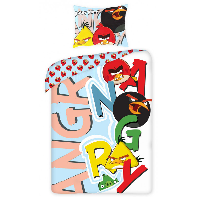 Povlečení Angry Birds písmena