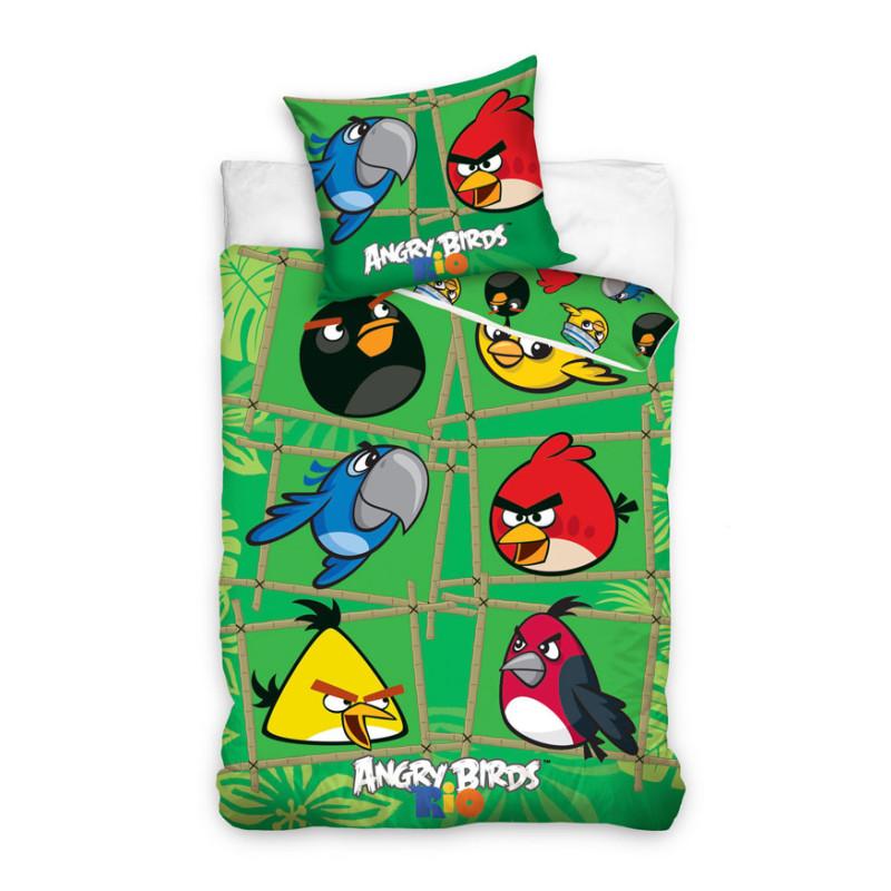 Povlečení Angry Birds Rio Bamboo