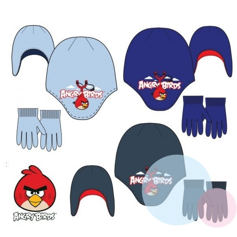 Čepice a rukavice Angry Birds