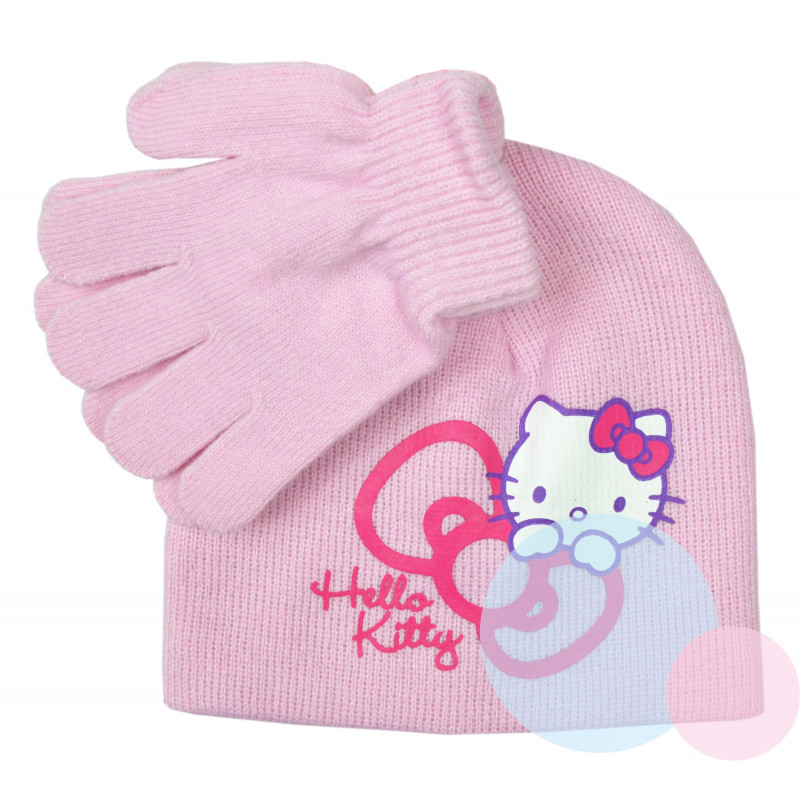 ČEPICE A RUKAVICE HELLO KITTY