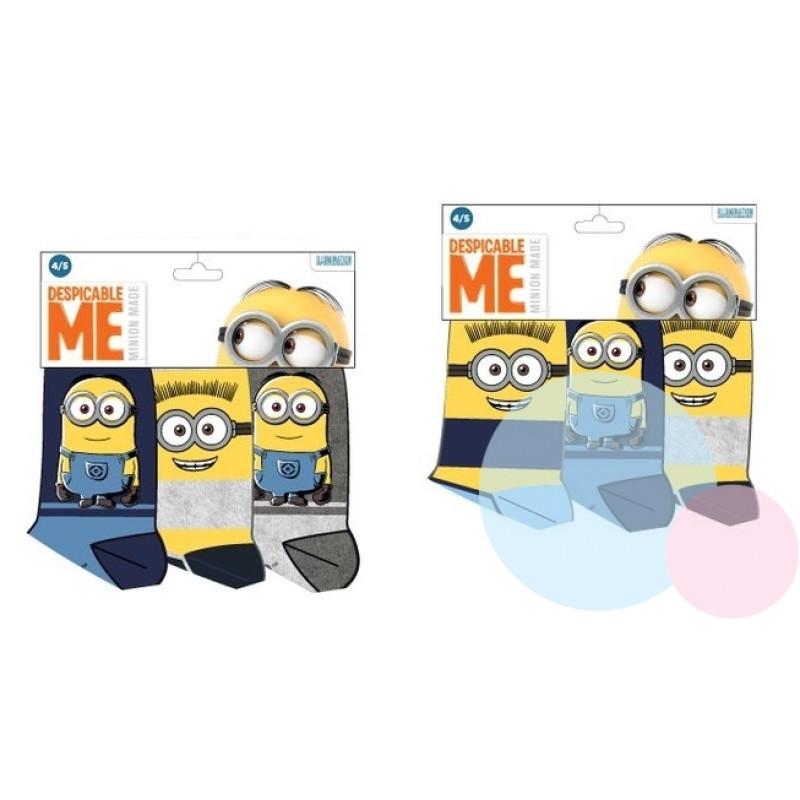 Ponožky Mimoni - 3 kusy