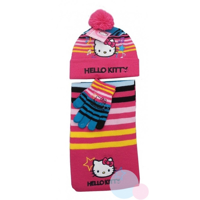 ŠÁLA, ČEPICE A RUKAVICE HELLO KITTY