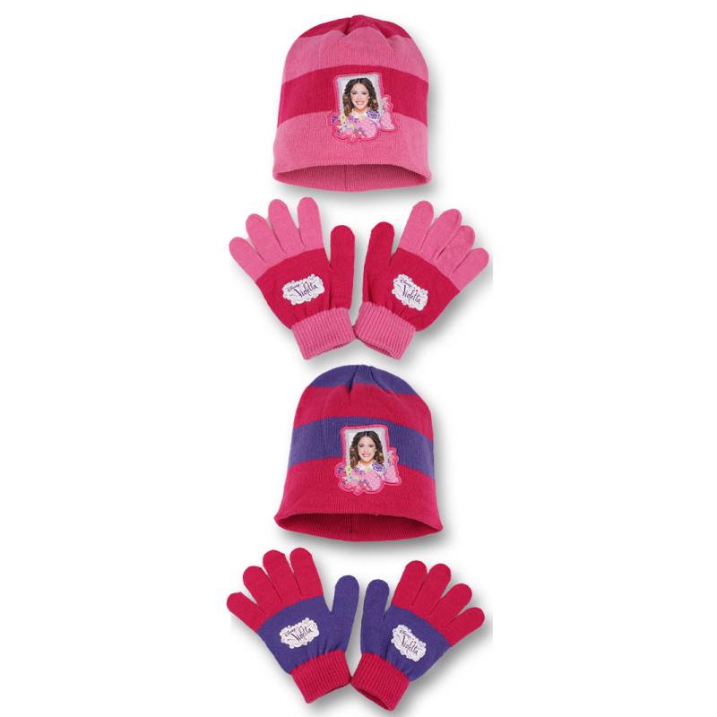 Čepice a rukavice Violetta