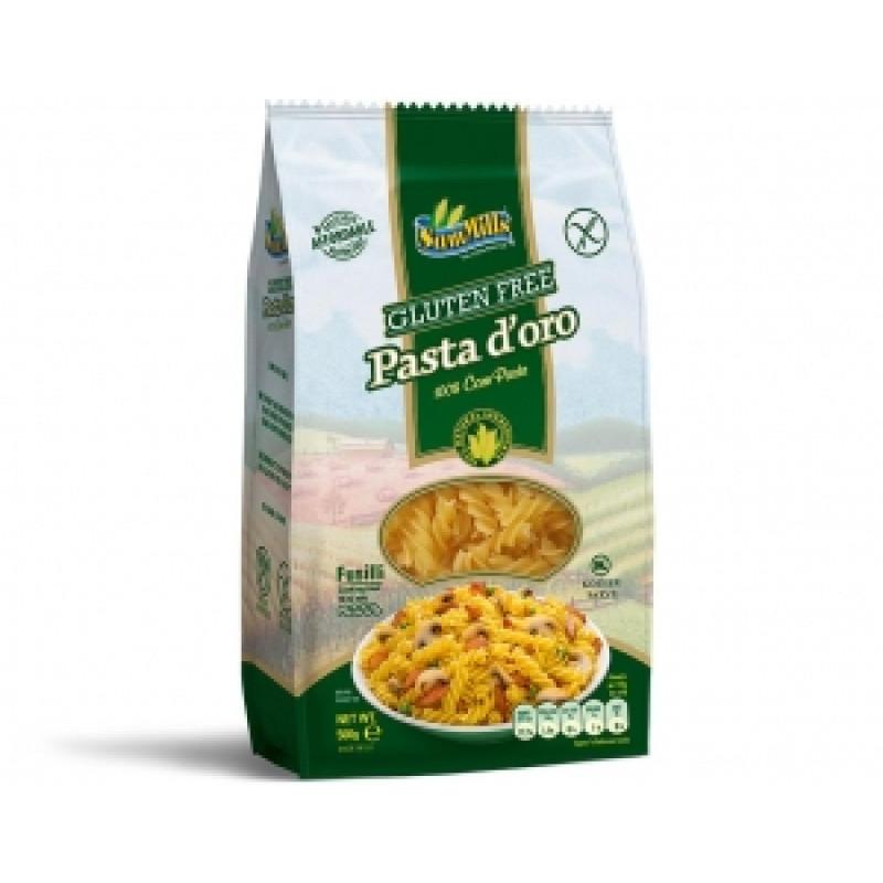 Kukuřičné těstoviny - vřetena (Fusilli)