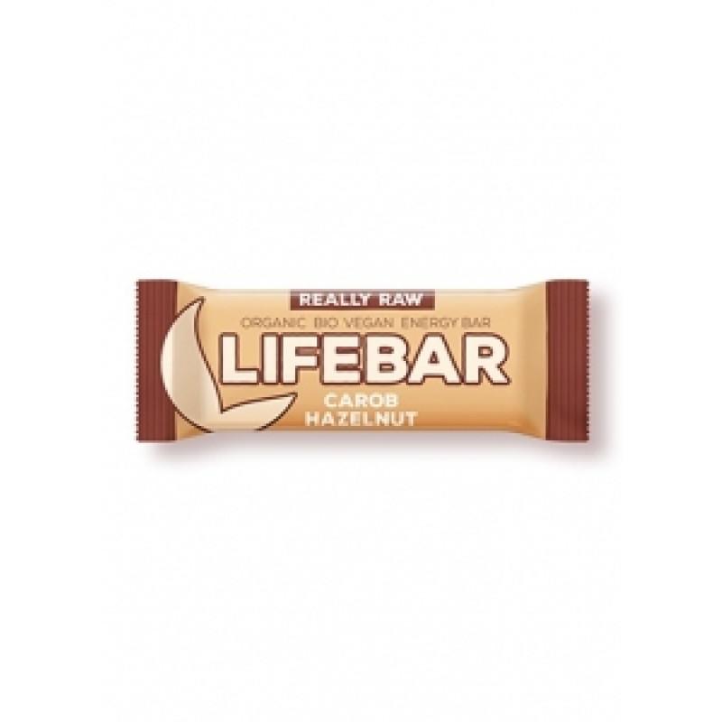 Lifebar karobová s lískovými ořechy BIO