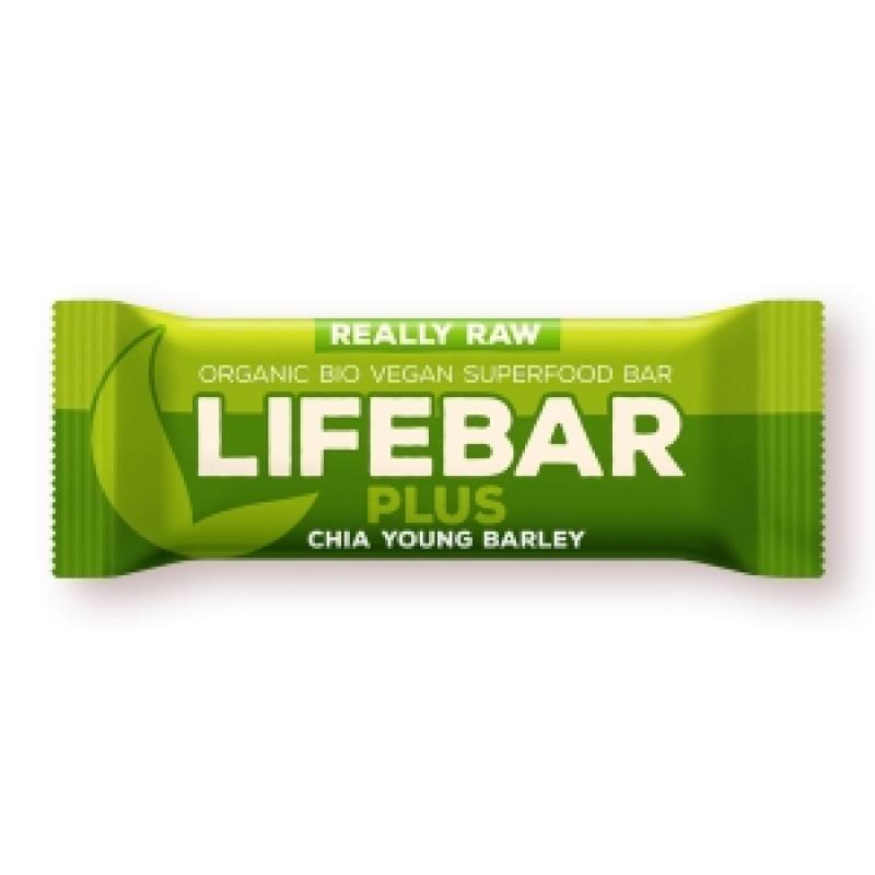 Lifebar PLUS chia semínka a mladý ječmen BIO