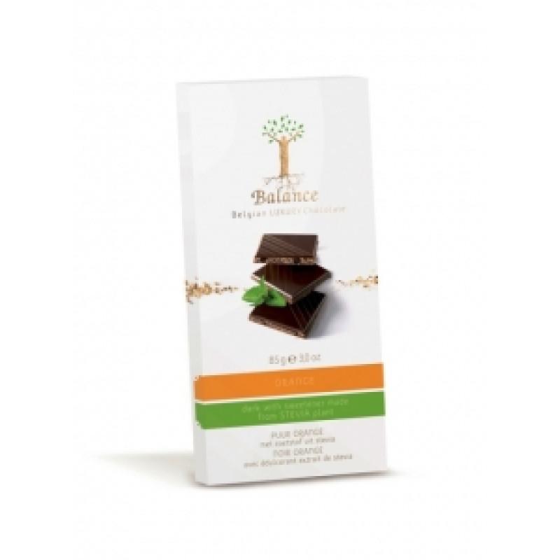 Hořká čokoláda s pomerančem se stévií Balance