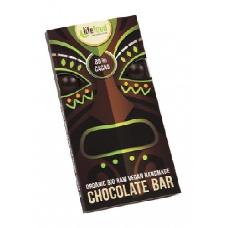 Lifefood čokoláda 80% kakao BIO