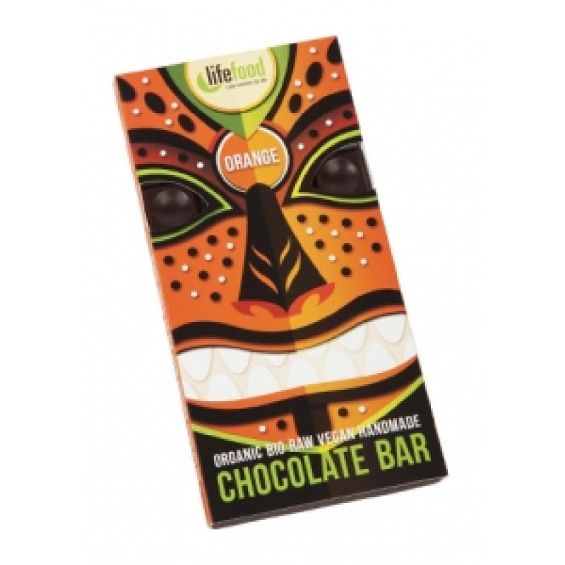 Lifefood čokoláda pomerančová BIO
