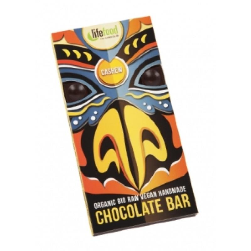 Lifefood čokoláda s kešu ořechy BIO