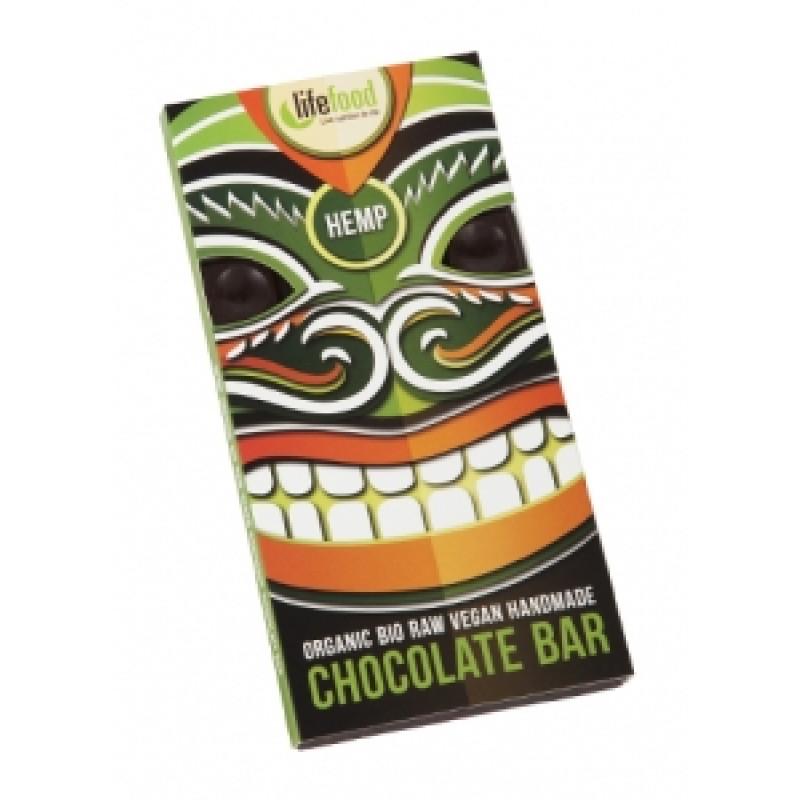 Lifefood čokoláda s konopným semínkem BIO