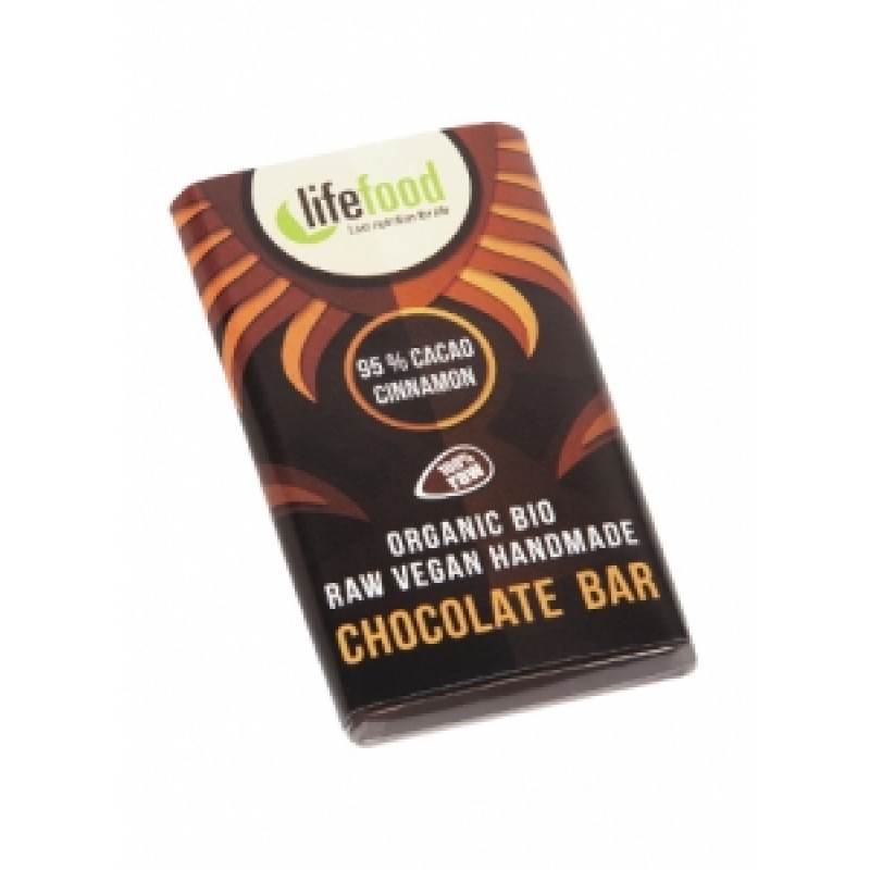 Lifefood Mini čokoládka 95 % kakao a skořice BIO