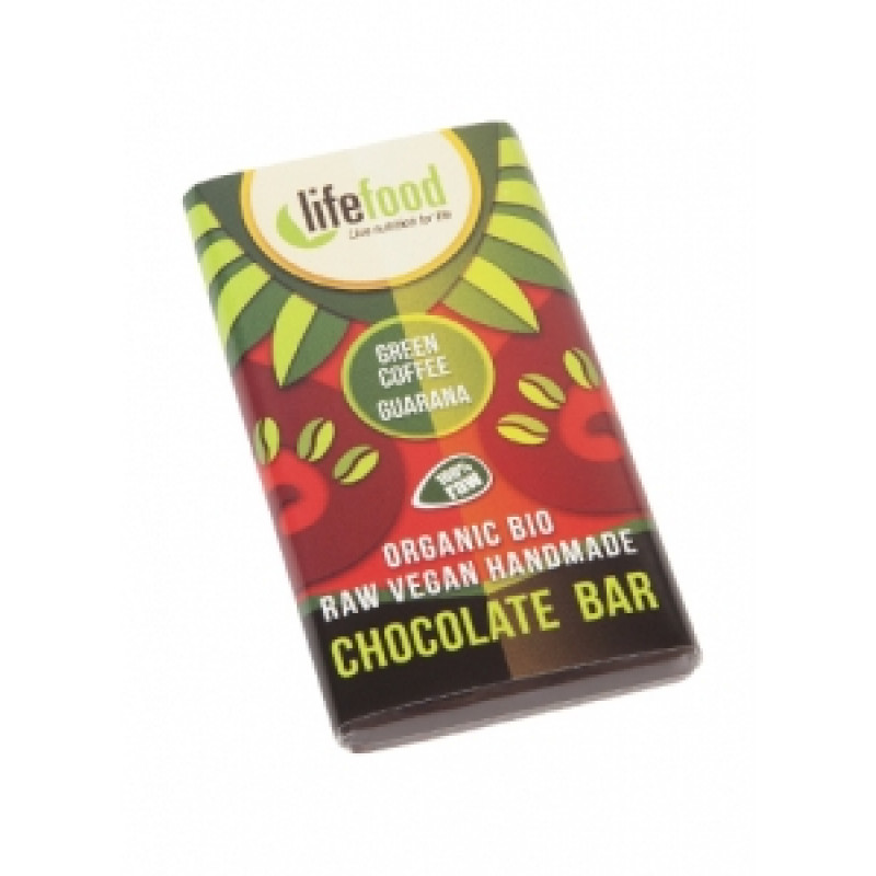 Lifefood Mini čokoládka káva s guaranou BIO