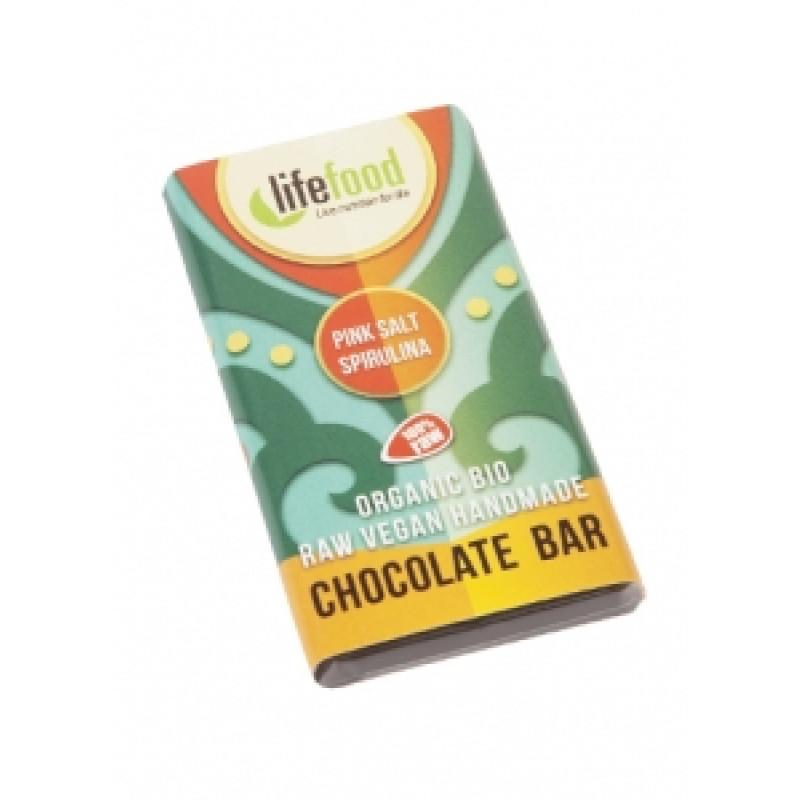 Lifefood Mini čokoládka slaná se spirulinou BIO