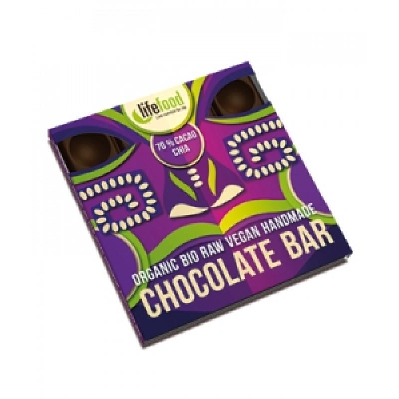 Lifefood střední čokoláda 70% kakao s chia semínkem BIO