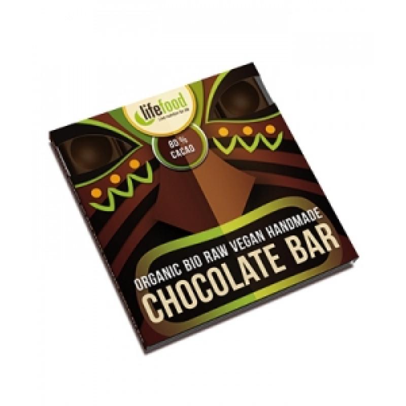 Lifefood střední čokoláda 80 % kakaa BIO