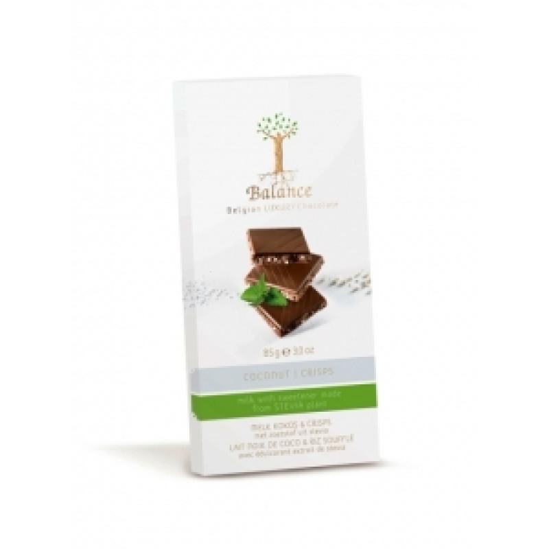 Mléčná čokoláda s kokosem a křupinkami se stévií Balance