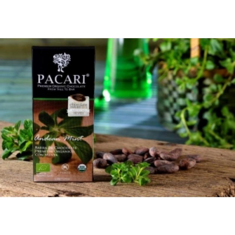 Pacari hořká čokoláda s andskou mátou BIO