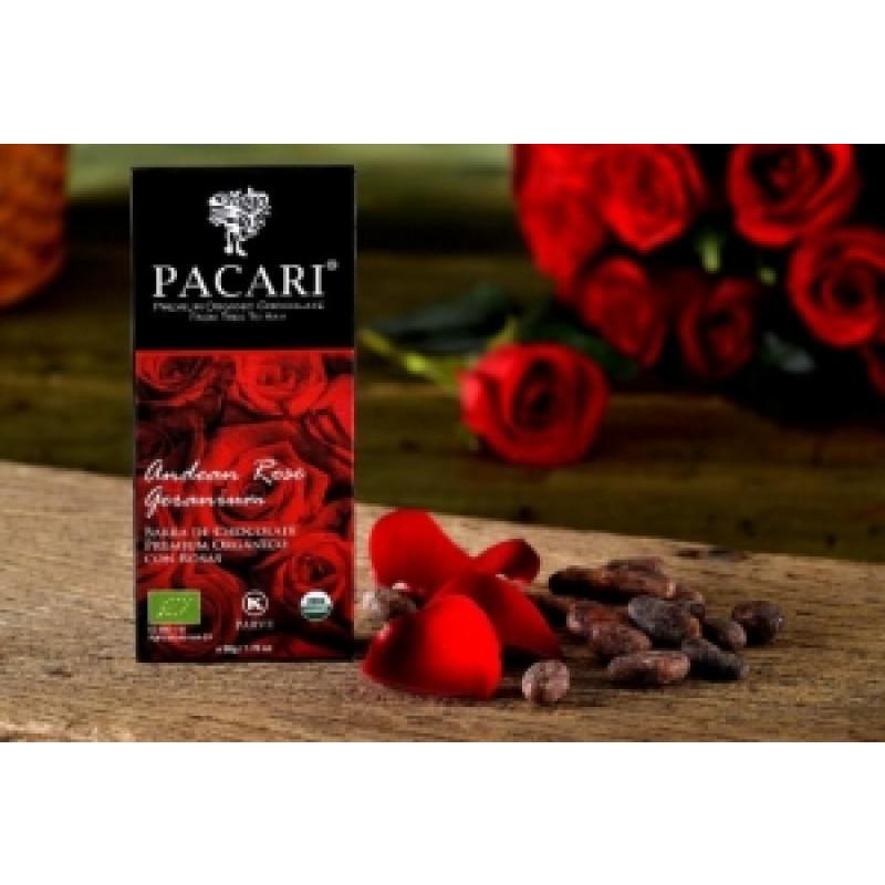 Pacari hořká čokoláda s andskou růží Geranium BIO
