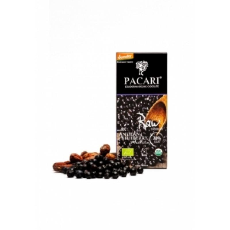 Pacari hořká čokoláda s andskými borůvkami BIO