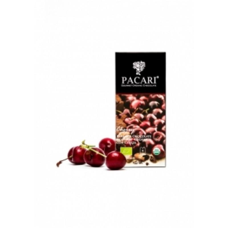 Pacari hořká čokoláda s třešněmi BIO