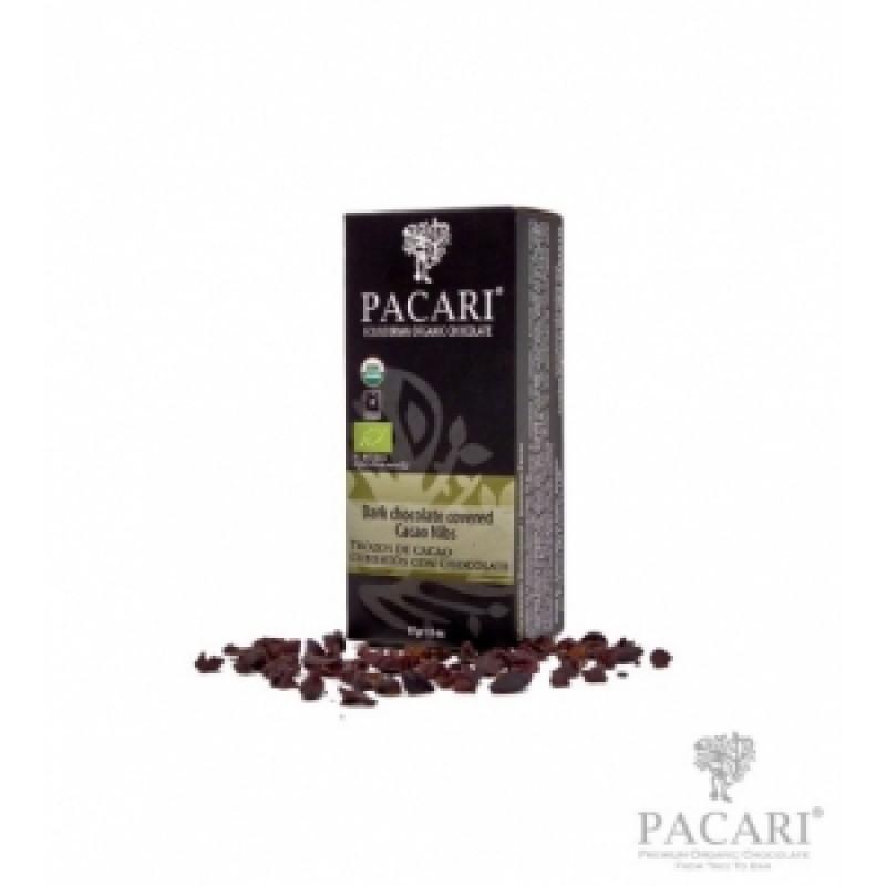Pacari kakaové boby v hořké čokoládě BIO