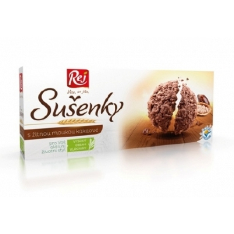 Sušenky s žitnou moukou kakaové