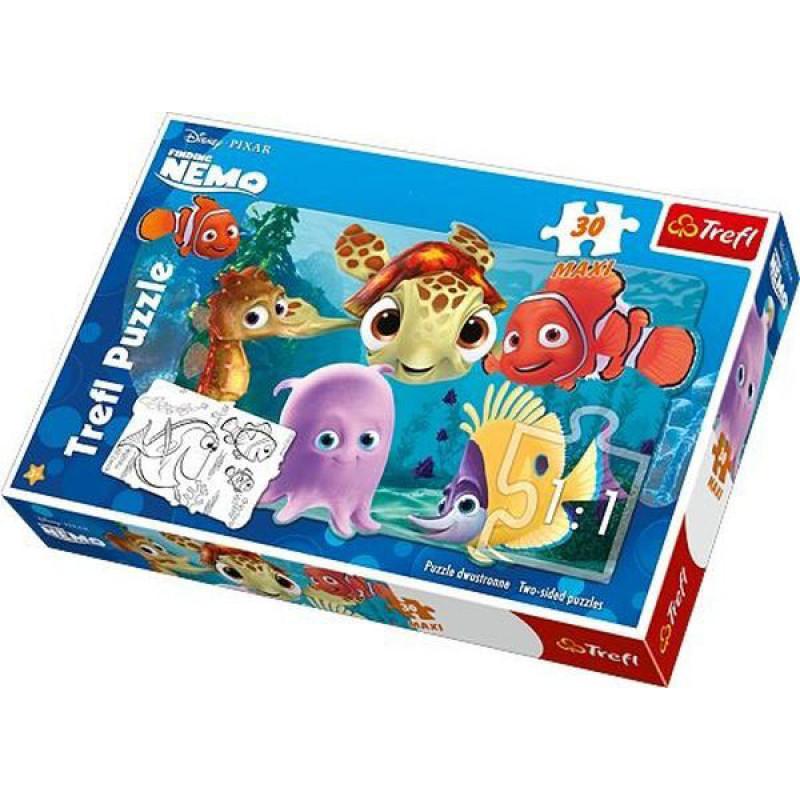 Puzzle Hledá se Nemo Oboustranné 30 dílků