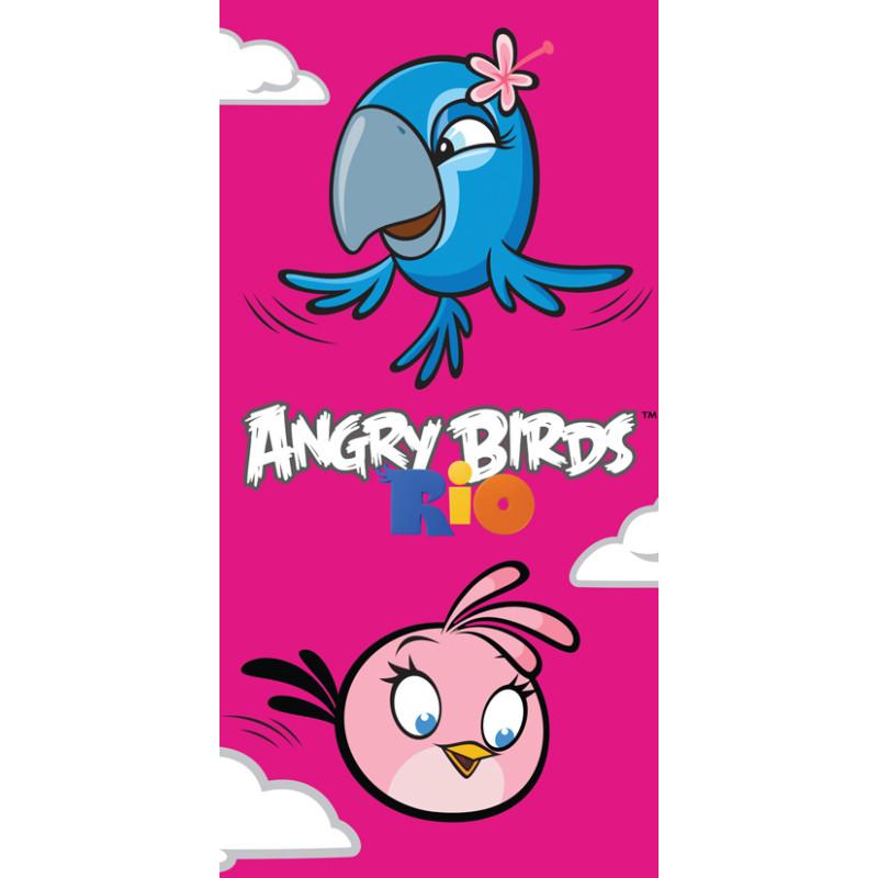 Osuška Angry Birds Pink