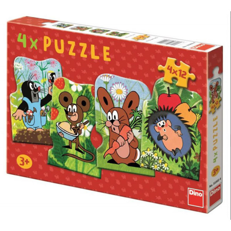 Puzzle Krteček 4v1