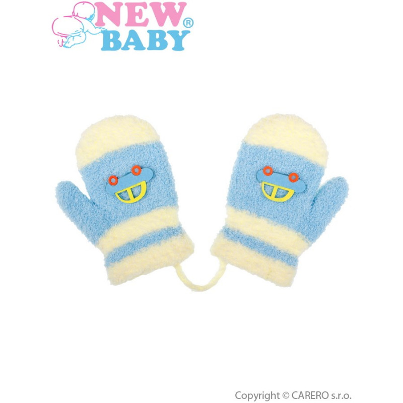 Zimní rukavičky s autem