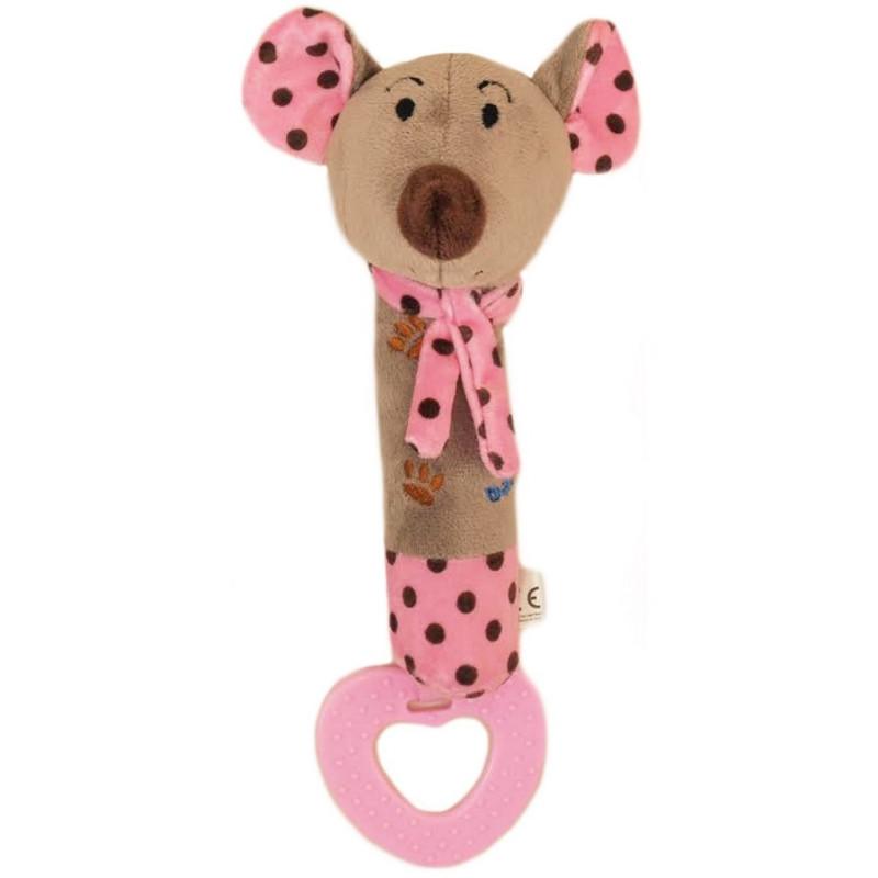 Plyšová hračka s kousátkem myška