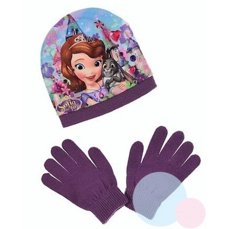 Čepice a rukavice Princezna Sofie