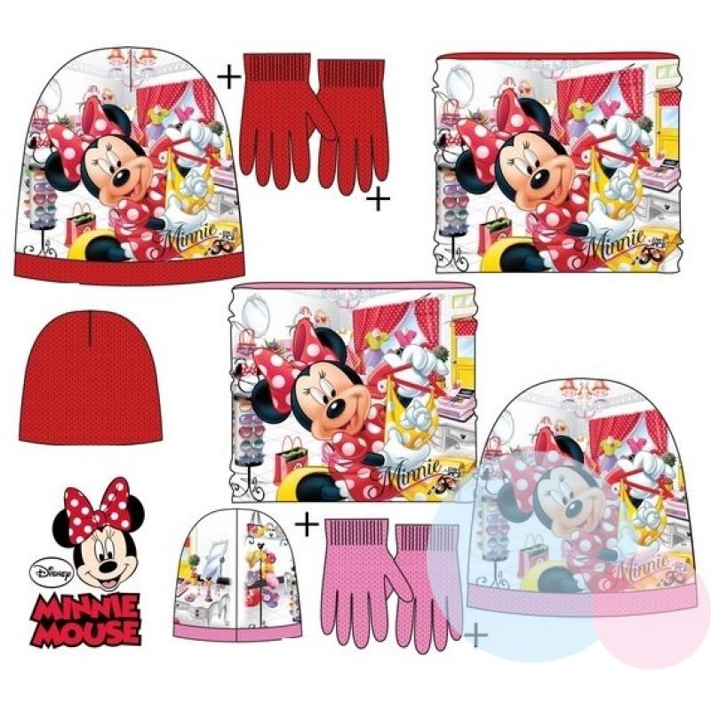 Čepice, rukavice a nákrčník Minnie