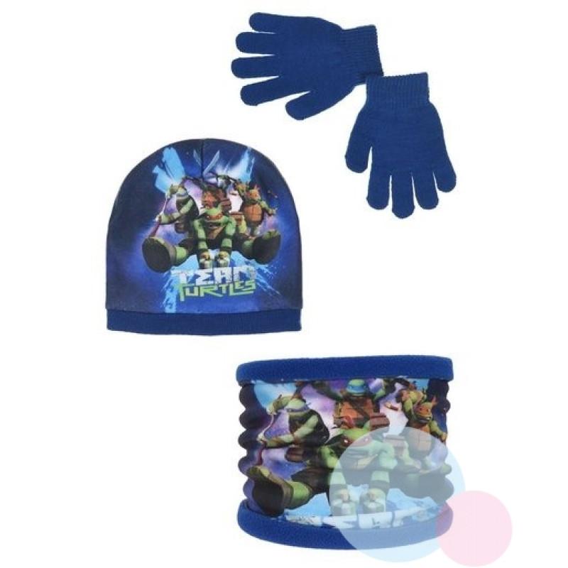 Čepice, rukavice a nákrčník Želvy Ninja