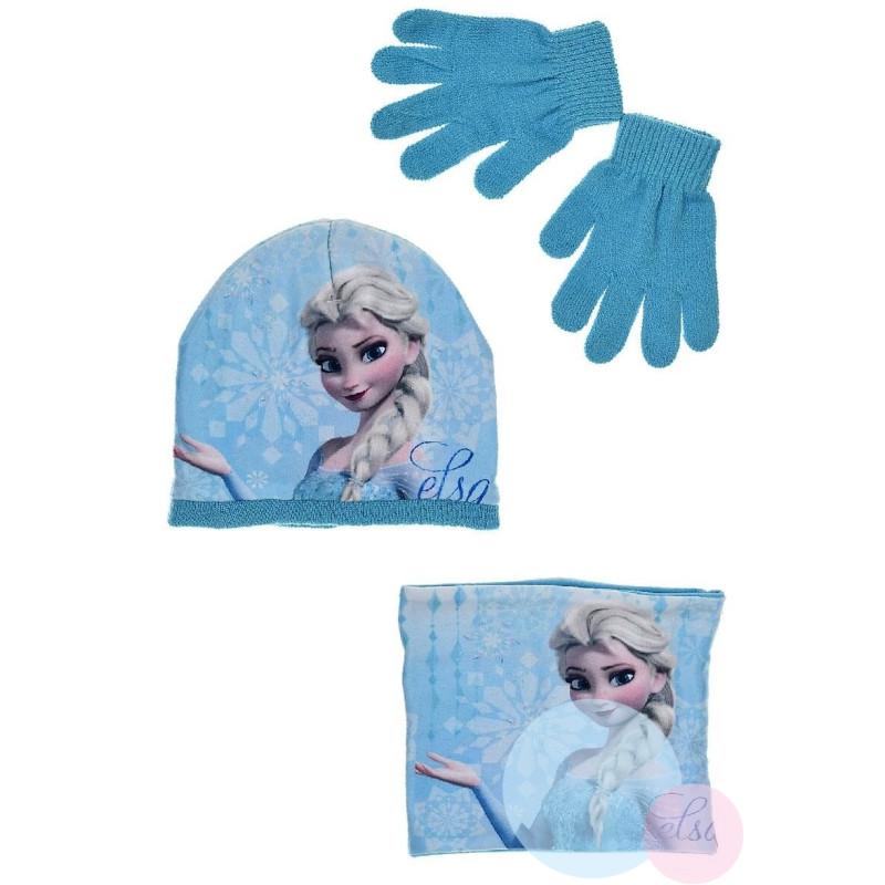 Čepice, rukavice a nákrčník Frozen