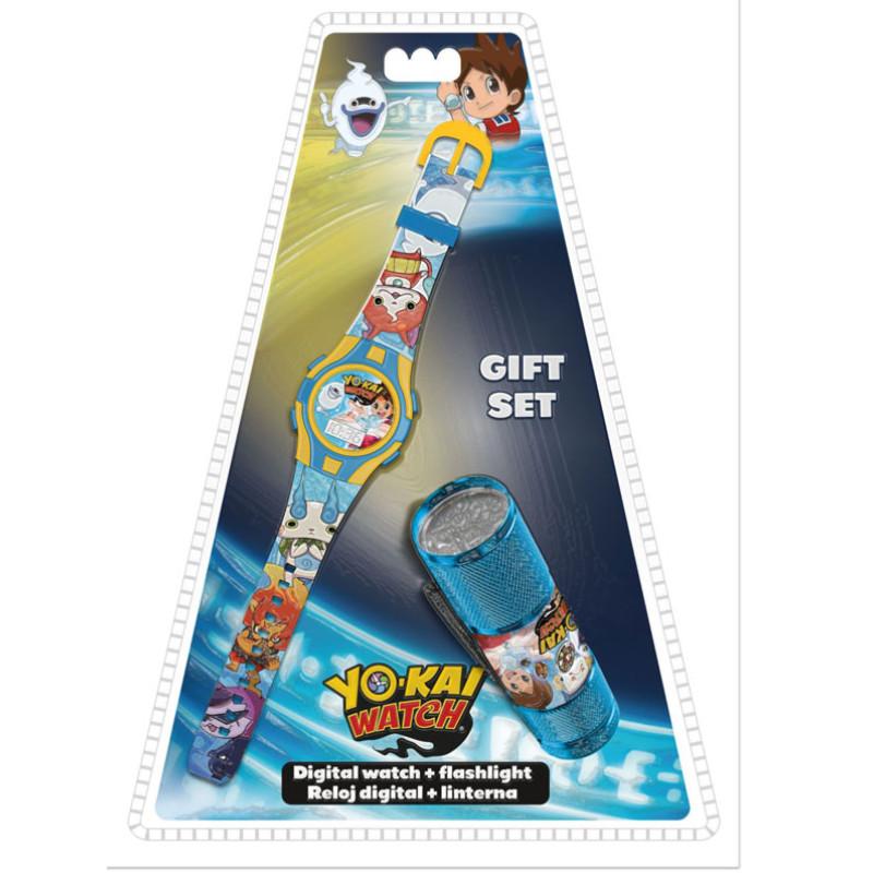 Hodinky a LED baterka Yo-Kai