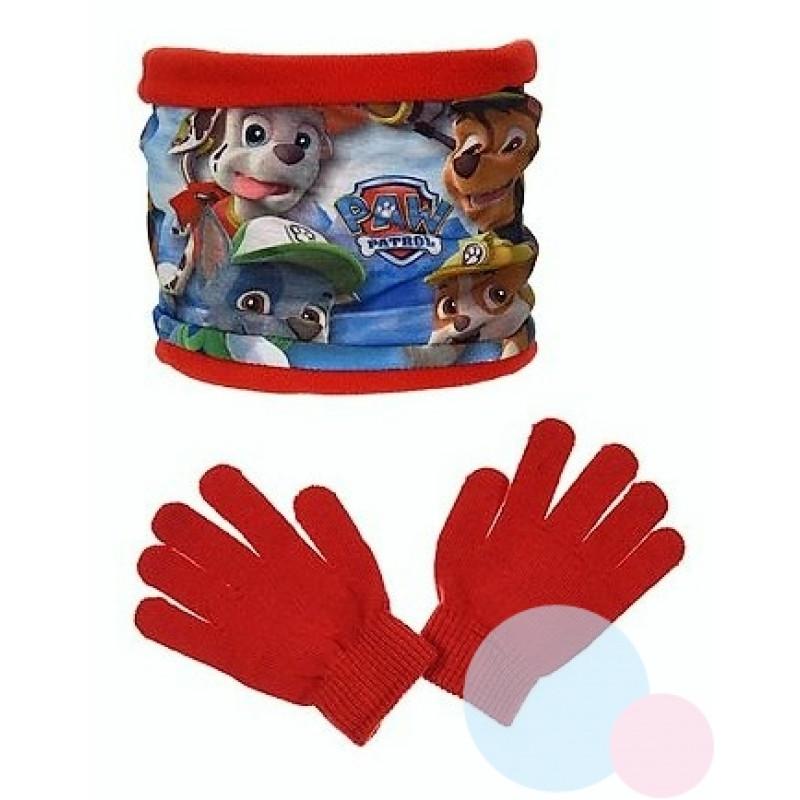 Nákrčník a rukavice Tlapková Patrola