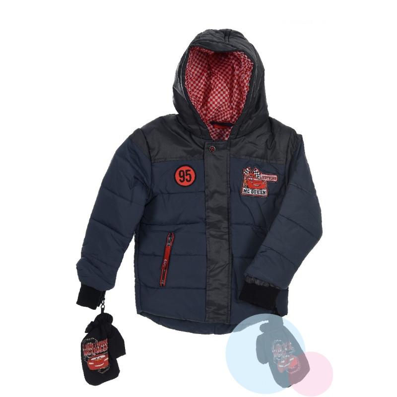 Zimní bunda a rukavice Cars