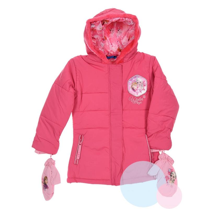 Zimní bunda a rukavice Frozen