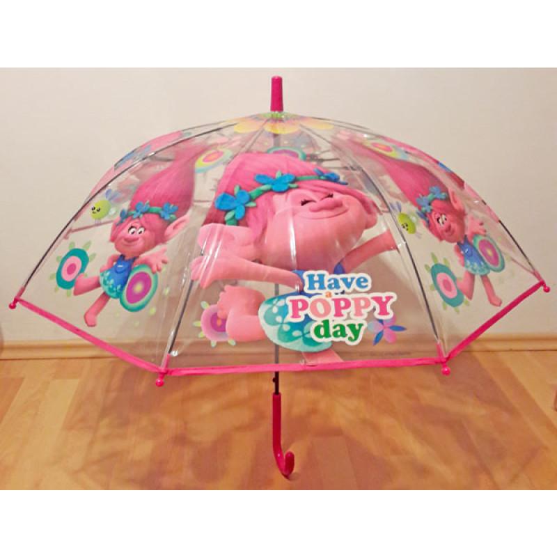 Deštník Trollové Poppy vystřelovací