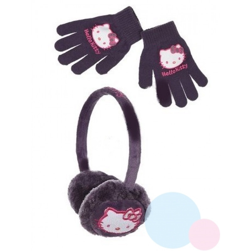 Klapky na uši a rukavice Hello Kitty